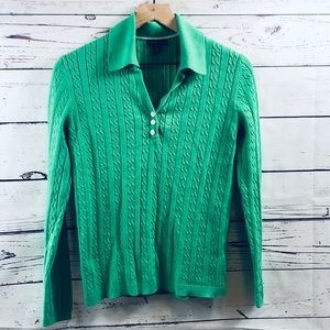 TOMMY HILFIGER Preppy Green Sweater, size M